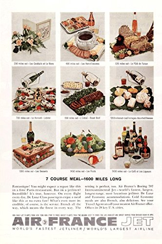 Air France Jet - France Holiday Vintage Ad - 1960's # (France Jet)