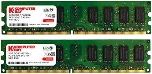 Komputerbay 8GB (2x4GB) DDR2 667MHz PC2-5300 PC2-5400 DDR2 667 (240 PIN) DIMM Memoria Desktop