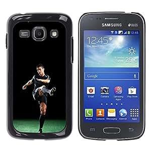 CASECO - Samsung Galaxy Ace 3 - Ronaldo Practice - Delgado Negro Plástico caso cubierta Shell Armor Funda Case Cover - Ronaldo Práctica
