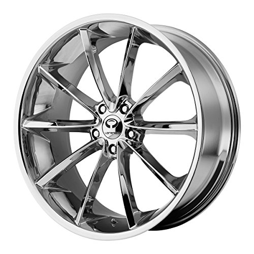 Lorenzo WL032 22x10.5 Chrome Wheel / Rim 5x115 with a 28mm Offset and a 72.60 Hub Bore. Partnumber WL03222515228