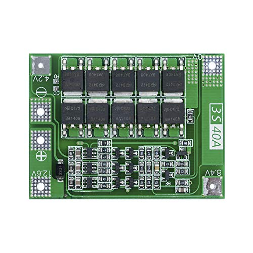 Enhanced 3S 40A 11.1V 12.6V Li-ion Lithium Battery Charger Protection Board PCB BMS Lipo Cell Module for 40A Current Drill Motor ()