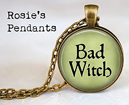 Bad Witch Pendant Necklace - Witch Necklace - Evil Witch Jewelry - Witch Costume Jewelry -  sc 1 st  Amazon.com : witch costume jewelry  - Germanpascual.Com