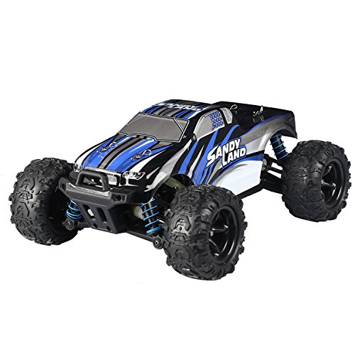 STOTOY RC Car 9300, 40km/h 1/18 Scale Radio Controlled Electric Car - Offroad 2.4Ghz 2WD Remote Control Truck - Best Christmas Gift for Kids and Adults (blue-1)