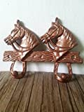 Copper Horsehead Double hook – Men's Western Home Décor – Rustic cowboy cowgirl – kids room