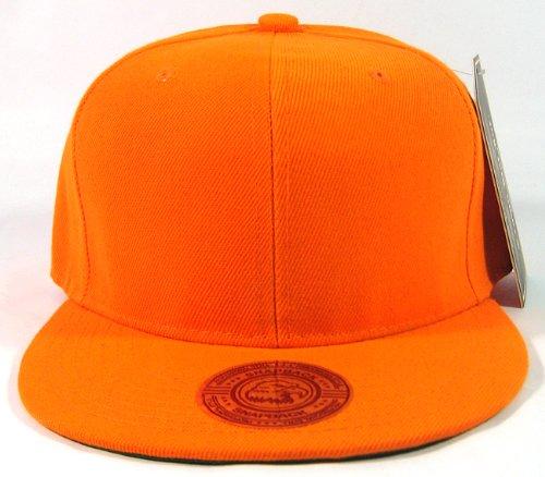 blank-plain-vintage-snapback-hats-fashion-solid-orange