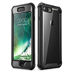 i-Blason Case for iPhone 8 Plus/iPhone 7 Plus, [Ares] Full-Body Rugged Clear Bumper Case with Built-in Screen Protector…