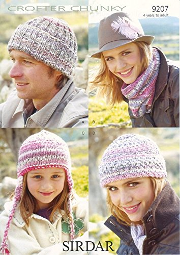 Sirdar Crofter Chunky Hat Accessories Knitting Pattern 9207: Amazon