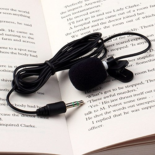 Grandey 1Pcs 30Hz~15000Hz Mini 3.5mm Tie Lapel Lavalier Clip On Microphone for Lectures Teaching