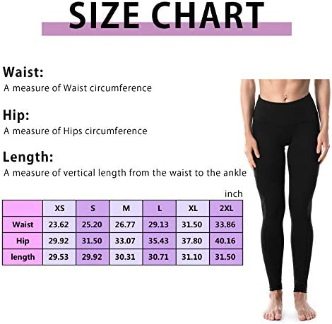 Runwind High Waist Yoga Leggings Pants for Women with Pockets for Women - Workout Leggings Pants Tummy Control Gym Yoga