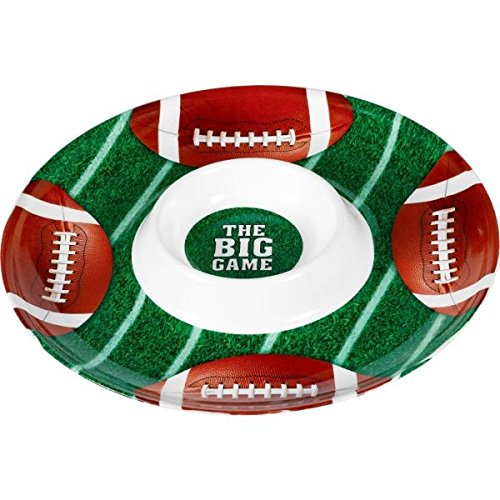 Football Party Chip & Dip Plastic Tray