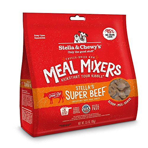 Stella & Chewy's Freeze-Dried Raw Super Beef Meal Mixers Grain-Free Dog Food Topper, 3.5 oz bag