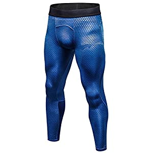 SANANG Pantalons de Compression pour Hommes Cool Dry Baselayer Sports Fitness Leggings serrés 3 Pack