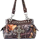 Brown Camo Bling Cross Purse and Wallet Set 321-2