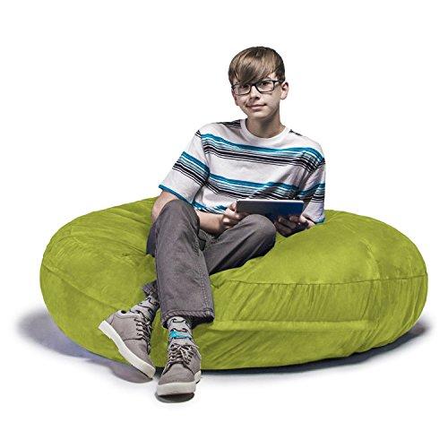 Jaxx Cocoon 4 ft Foam Bean Bag Chair, Microsuede
