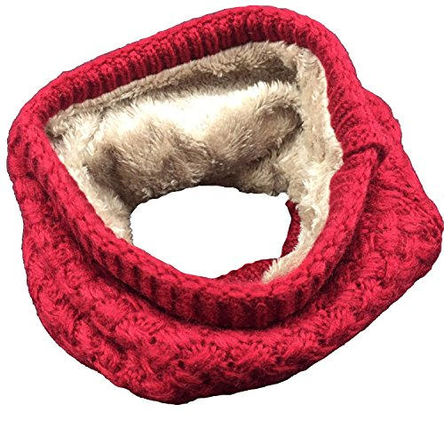Leories Winter Neck Warmer Fleece Lined Infinity Scarf Thicken Windproof and Dust Skiing Scarf Face Mask (Dog Fleece Scarf)