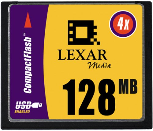 Digital Film Compactflash Card - Lexar Media 128 MB CompactFlash Digital 4X (CF128-231)