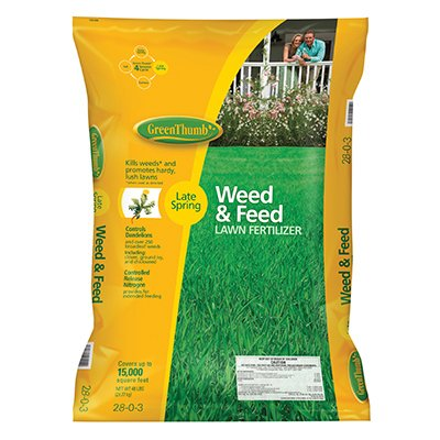 green-thumb-premium-weed-feed-lawn-fertilizer-20-0-3-covers-15000-sq-ft-48-lbs