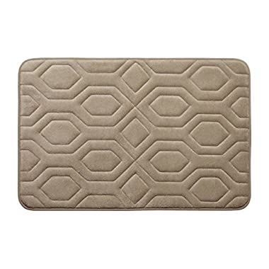 Bounce Comfort Extra Thick Memory Foam Bath Mat - Turtle Shell Premium Micro Plush Mat with BounceComfort Technology, 17 x 24 in. Linen
