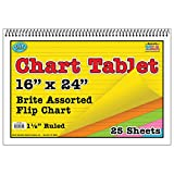 Top Notch Teacher TOP3840BN Chart Tablet 16X24, 1.5 Inch Ruled, MultiPk 3 Each