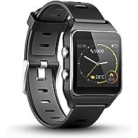 LUKAWIT GPS Reloj Inteligente Fitness Tracker con Monitor de Frecuencia Cardíaca y Sueño, 17 Modos Deportivos, Podómetro…