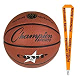 Champion Sports Composite Basketballs Orange Bundle with 1 Performall Lanyard SB1040-1P