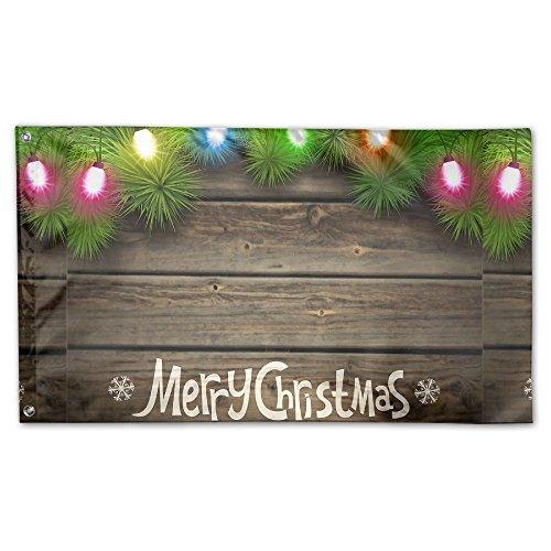 BINGOGING FLAG Decorative House Flags - Merry Christmas Wood