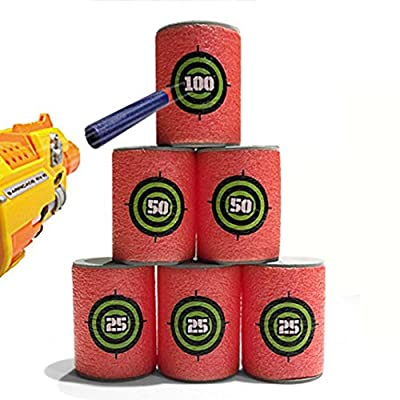 Livoty 2Set/12pcs EVA Soft Bullet Target for NERF N-Strike Blasters Pack of 12pcs by Livoty that we recomend individually.