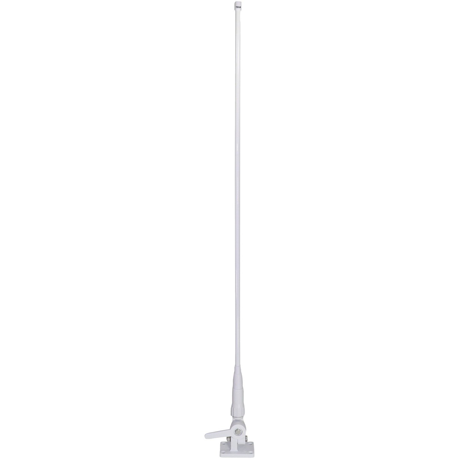 TRAM(R) 1614 46'' VHF 3 Dbd Gain Marine Antenna with Cable Built-in to Ratchet Mount, Silver by TRAM(R)