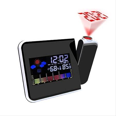 Reloj despertador de proyección digital, pronóstico del ...