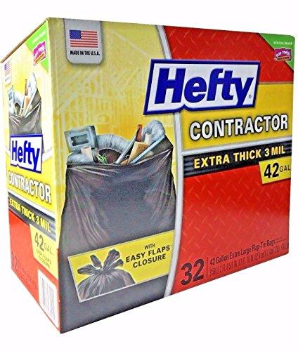 Hefty 42 Gal Contractor Bags, 32 Count