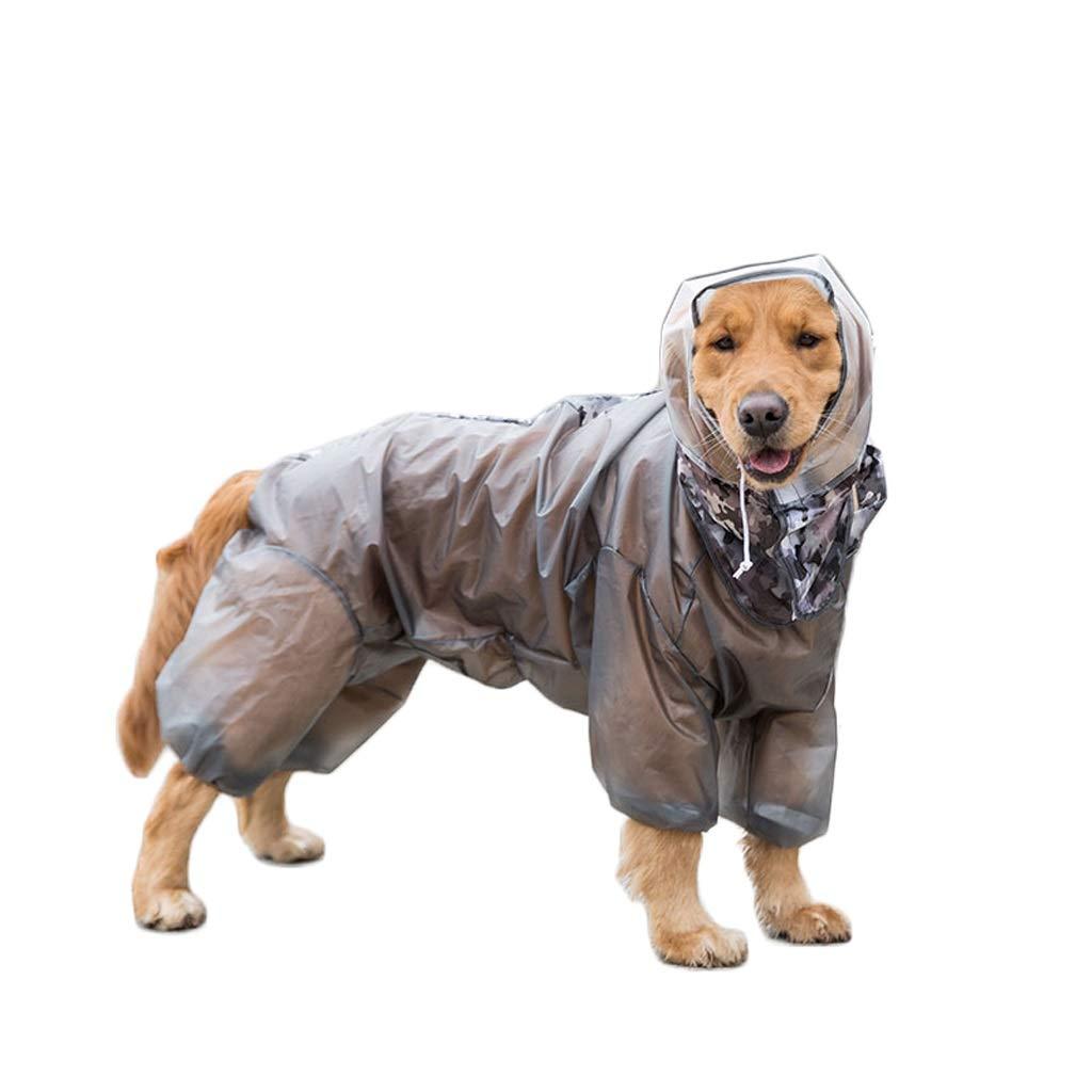 LZRZBH Pet Supplies Pet Cloak Raincoat Dog Four Feet Waterproof All-Inclusive Big Dog Clothes Pet Warm CoatBlack, White(S-XXL) (Color : Black, Size : XXL)