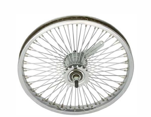 Lowrider 16 72 Spoke Coaster Wheel 14G Chrome Bicycle Wheel Bike Part Bicycle Part Bicycle Wheel Chopper Bike Wheel Bike Wheel cuiser