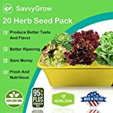 SavvyGrow Herb Lettuce Green Seeds Combo - 20