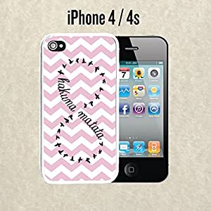 iPhone Case Chevron Hakuna Matata for iPhone 4 / 4s Plastic White (Ships from CA)
