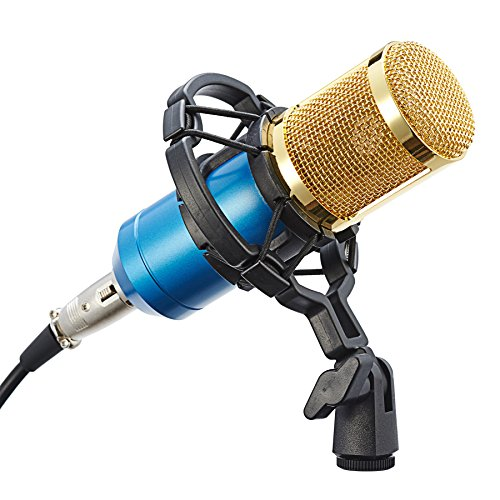 CO Z BM800 Blue Condenser Microphone Recording product image