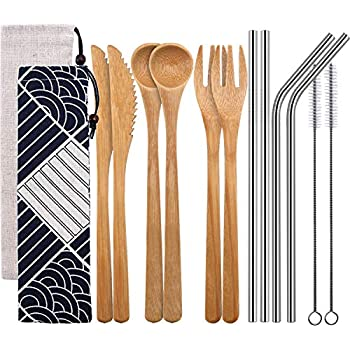 Amazon.com: Cuchara de madera de bambú para cocina ...