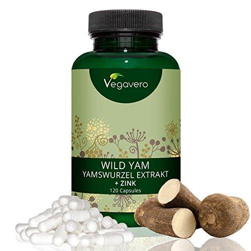Wild Yam Root Extract by Vegavero   720 mg + Zinc Per Capsule, 120 Capsules...