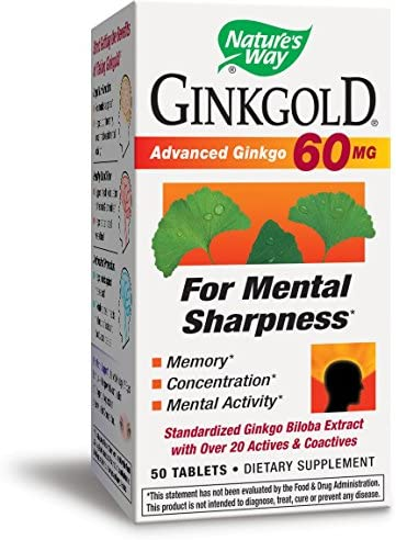 Natures Way Ginkgold 50 Tablets
