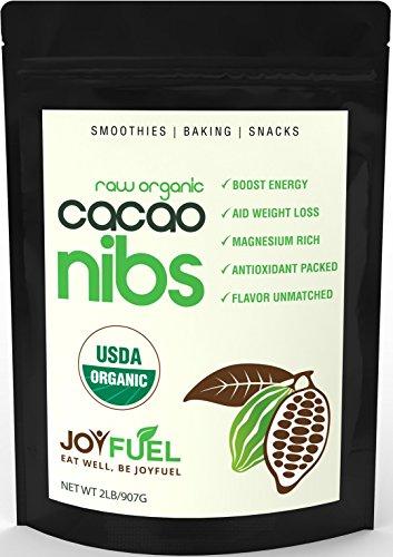 2LB premium premières organiques Cacao Nibs, Rich Chocolat Goût foncé - Chocolate Chip santé d'autrui, 60-jours garantie de remboursement