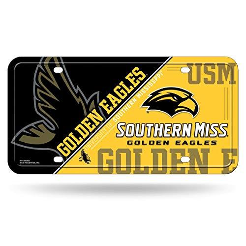NCAA Southern Mississippi Golden Eagles Metal License Plate ()