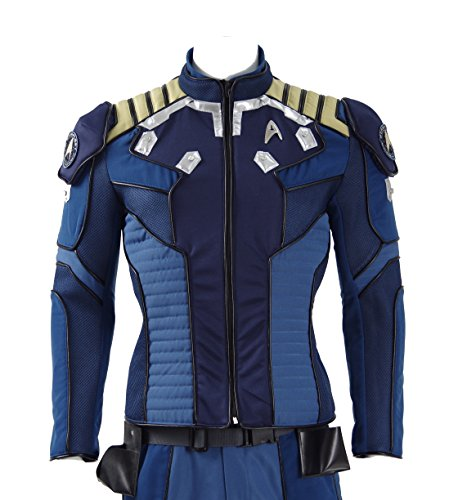 Fancycosplay Mens Cosplay Costume Blue Jacket Halloween Deluxe Outfit (Custom made) (Captain Kirk Outfit)