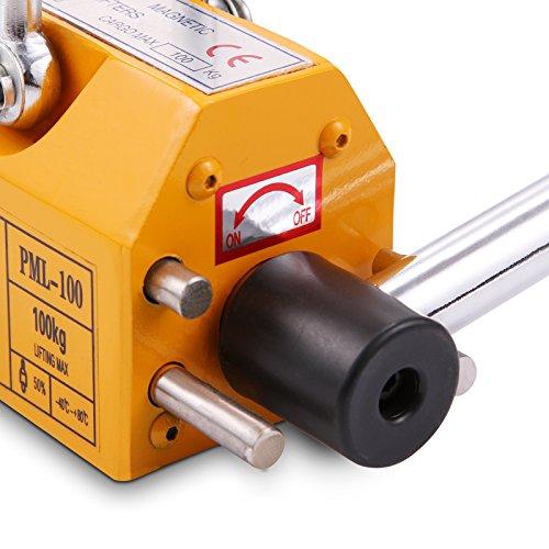 OrangeA 220LBS 100KG Steel Magnet Lifter Neodymium Magnetic Lifting Magnet Magnetic Shop Crane Metal Lifting Hoist (220LBS) by OrangeA (Image #4)
