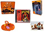 Halloween Fun Gift Bundle [5 piece] - Wilton Autumn 8-Piece Cookie Cutter Set - 35 Count Skeleton Icicle-Style Light Set - Haunted Horror Sounds CD - Halloween Felt Pumpkin Decoration - Homco Hallow