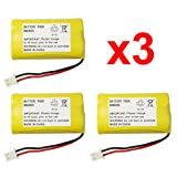 3 Fenzer Rechargeable Cordless Phone Batteries for Vtech 89-1341-00-00 8913410000 CS6128 CS6128-31 CS6128-32 Cordless Telephone Battery Packs, Office Central
