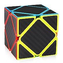 D-FantiX Skewb Speed Cube Carbon Fiber Sticker Magic Cube Puzzle Toys for Kids
