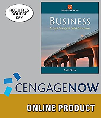 CengageNOW Online Homework System (with Digital Video Library) to Accompany Jennings' Business: Its Legal, Ethical, and Global Environment, 10th Edition, [Instant Access], 1 term (6 months)
