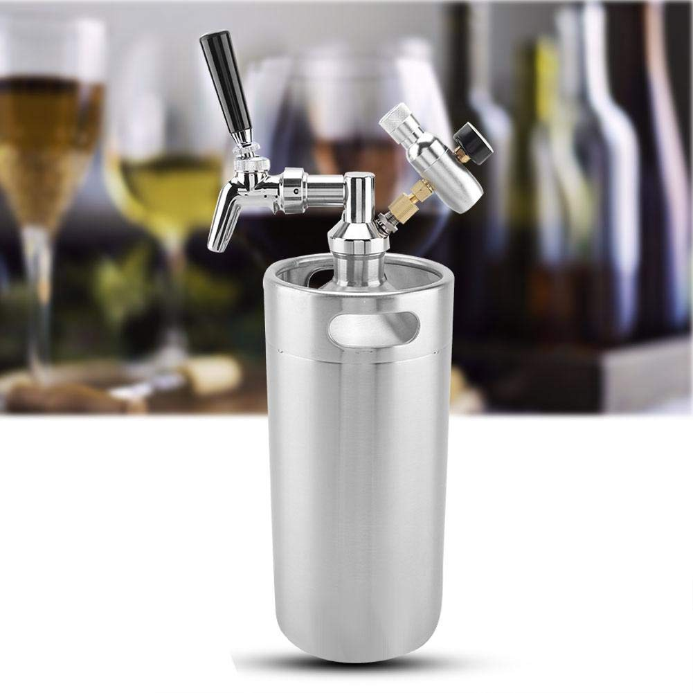 Acogedor 3.6L Mini Stainless Beer Barrel,Pressurized Growler for Transport Or Distribute Beers or Other Drinks. by Acogedor (Image #6)