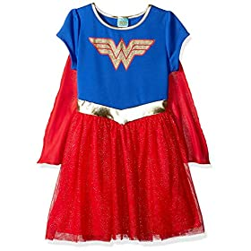 - 511H5s964OL - DC Comics Little Girl Costume Dress Up Wonder Woman or Supergirl Ages 2-6