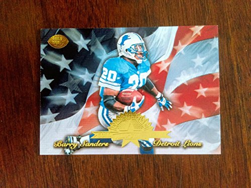 Barry Sanders 77/1,000 1996 Leaf - American All-Stars - Gold #16- Detroit Lions / Oklahoma State ()