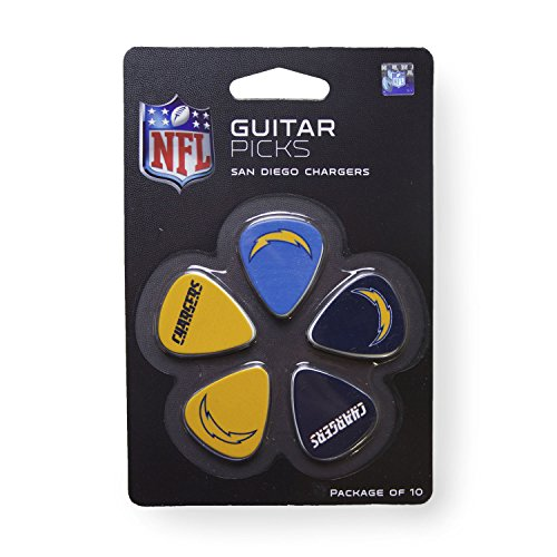 San Diego Chargers Rocks - Woodrow Guitar by The Sports Vault NFL San Diego Chargers Guitar Picks, 10 Pack